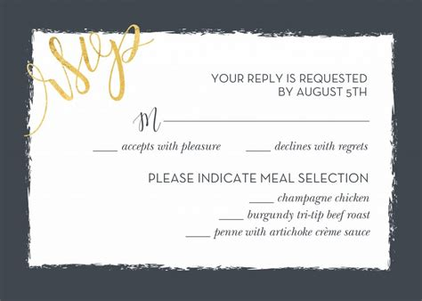 how to make rsvp cards for wedding wedding rsvp wording and card etiquette shutterfly