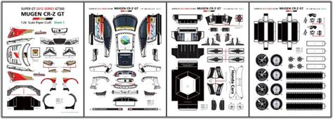 epson paper craft papermau 2012 s honda mugen cr z gt paper model by