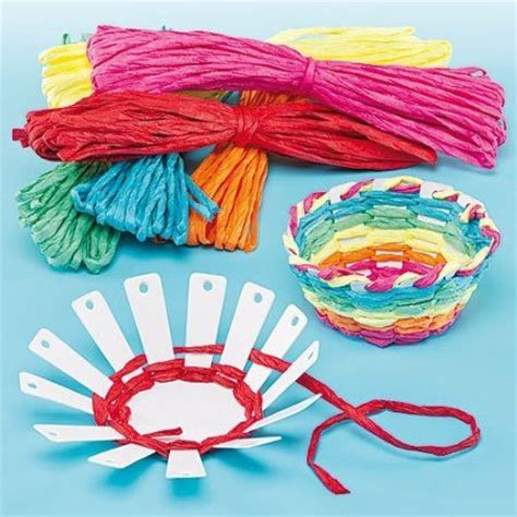 weaving crafts for card basket weaving kits 6 colors of raffia finished size
