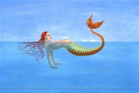 origami mermaid strange fish at clevedon pier nancy farmer s artwork