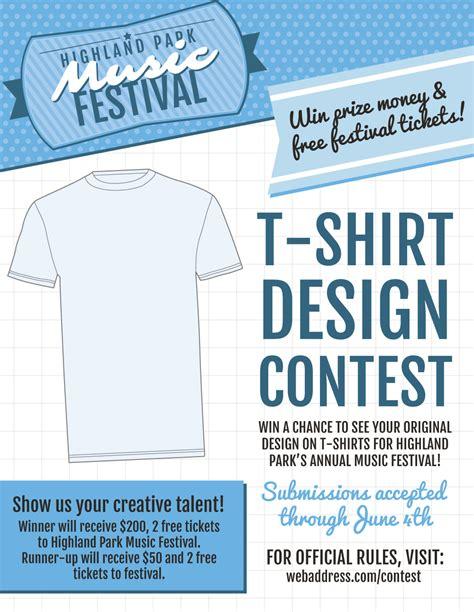 new t shirt contest marketing flier templates