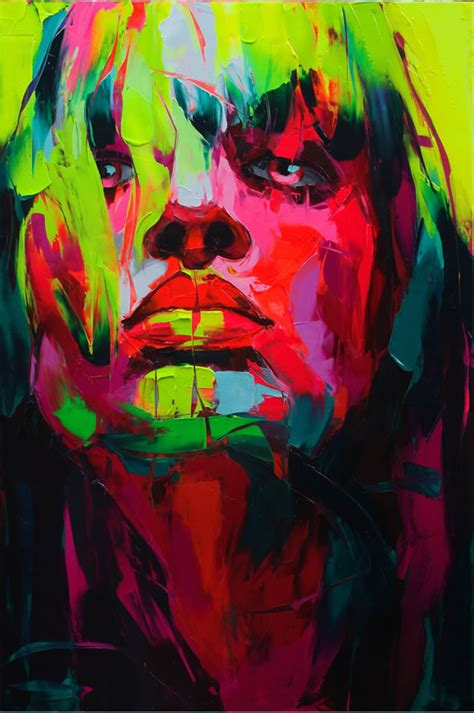 colorful painting colorful paint painting portrait image