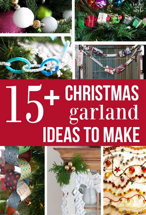 Kitchen Mantel Ideas how to make amp hang christmas tree garland in my own style