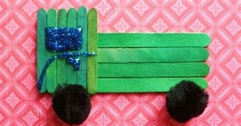 craft stick projects for preschoolers truck craft for children made with popsicle sticks and