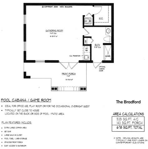 small pool house floor plans bradford pool house floor plan new house