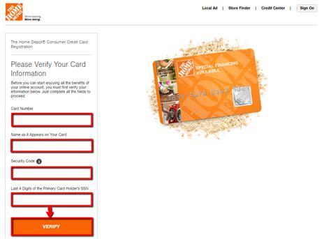 make home depot credit card payment home depot credit card login make a payment creditspot