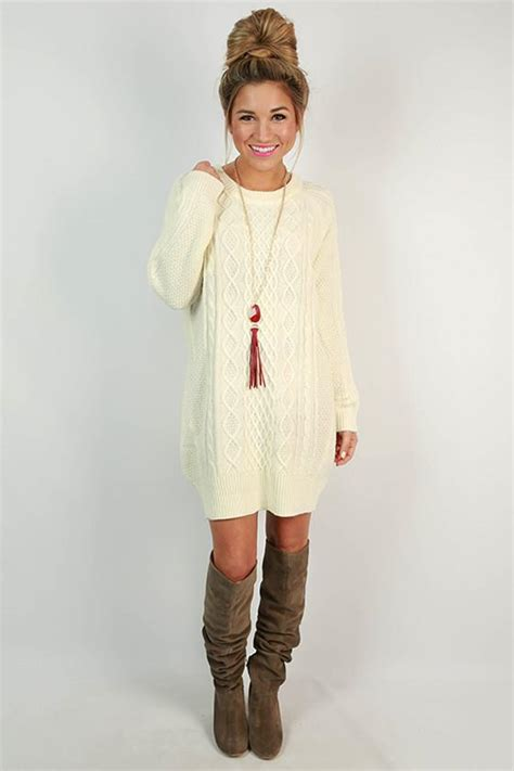 ivory cable knit sweater dress cozy on the slopes cable knit sweater dress in ivory