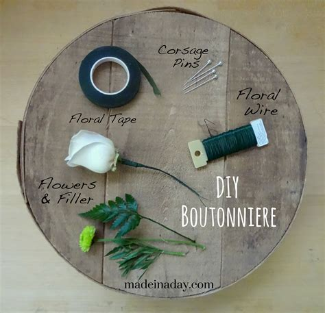 for to make how to make a boutonniere made in a day