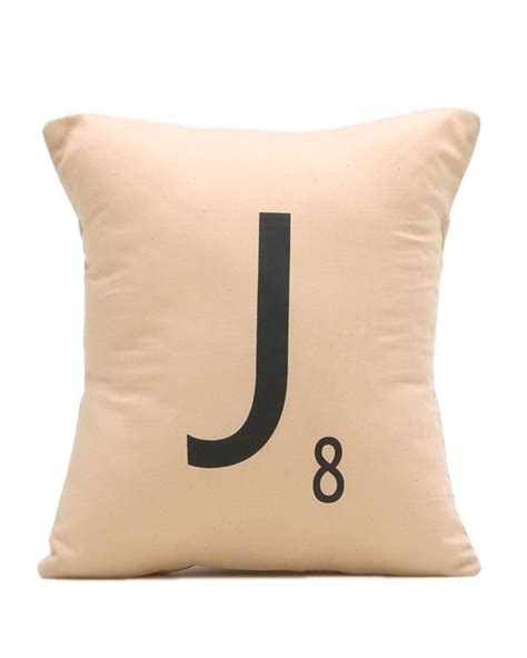 scrabble pillow initial scrabble pillow