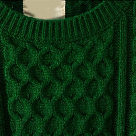 Green Batwing Sleeve Cable Knit Sweater Shein Sheinside