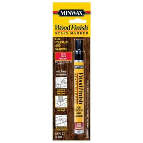 home depot touch up paint pen minwax 1 3 oz walnut wood finish stain marker 63487