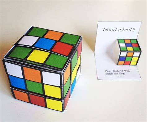 how to make a cube out of card printable easy paper rubik s cube diy template to