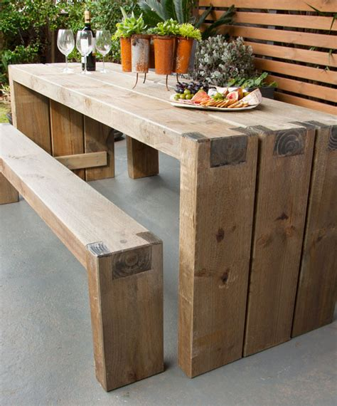 diy patio table plans how to create an outdoor table and benches diy