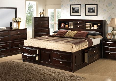 bedroom furniture storage electra king storage bedroom set overstock