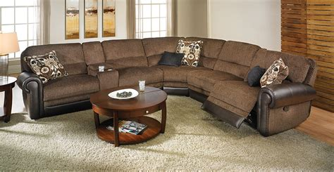 modular reclining sectional sofa dual power reclining tweed storage sectional haynes