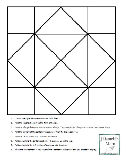 printable origami fortune teller template cootie catcher template and learning