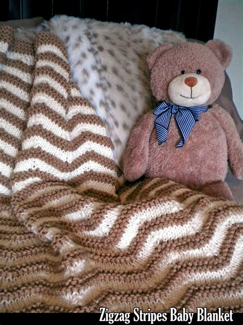 zigzag knitting pattern blanket zigzag stripes baby blanket knitting pattern on luulla