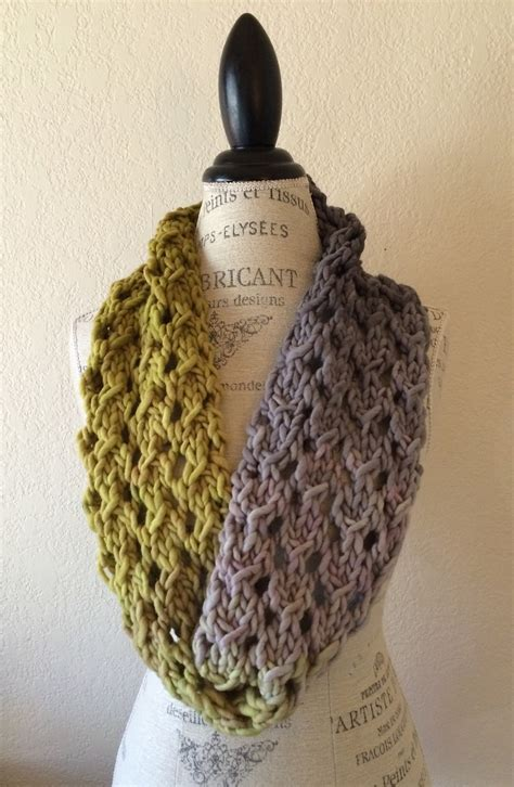 free cowl knitting patterns with bulky yarn bulky lace cowl free knitting pattern nobleknits