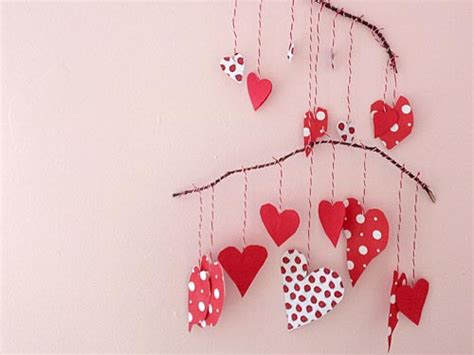 paper hearts craft craft s paper mobile we stuff