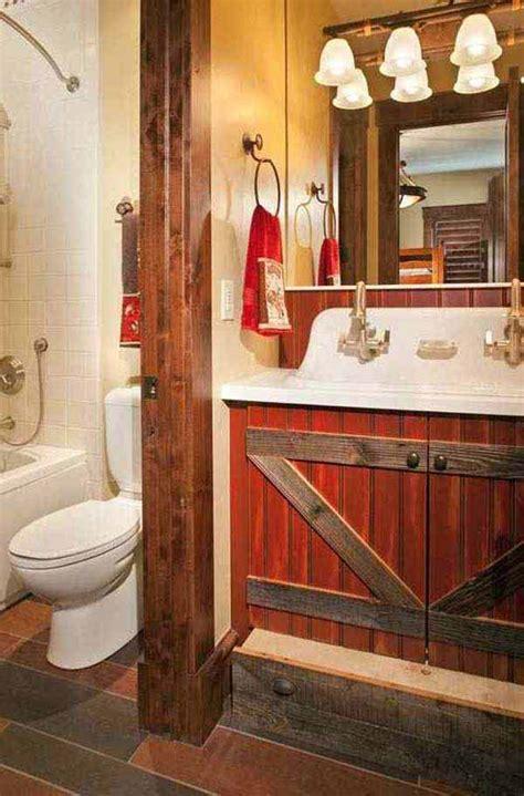 Rustic Themed Bathroom by 30 Inspiring Rustic Bathroom Ideas For Cozy Home Amazing