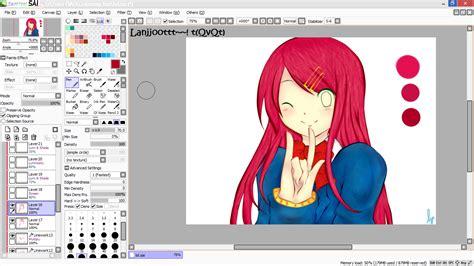 tutorial dasar paint tool sai tutorial paint tool sai tutorial mewarnai anime di paint