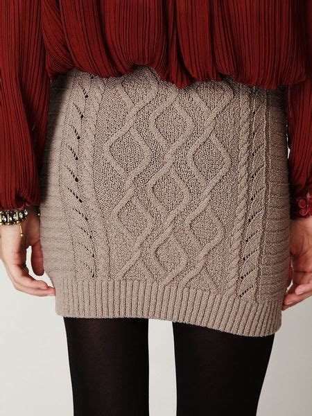 cable knit skirt free cable knit bodycon sweater skirt in gray