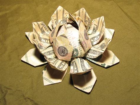 money flower origami origami with money would you be able to make these