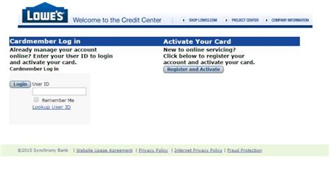 lowes credit card login make payment lowe s account access gallery
