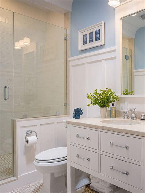 bathroom chair rail ideas 30 ideas of a bathroom with subway tile and chair rail