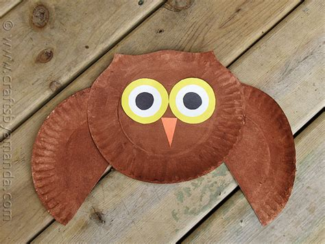 how to make craft with paper plates paper plate owl craft make a owl from a paper plate