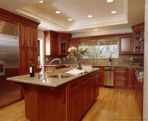 kitchen woodwork designs pictures of kitchens traditional medium wood cherry