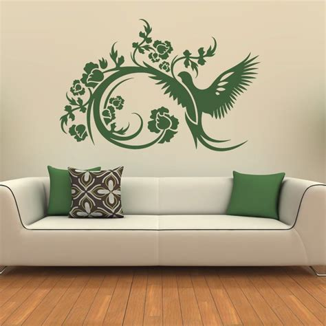 decorative stickers for wall floral decorative bird wall stickers wall decals