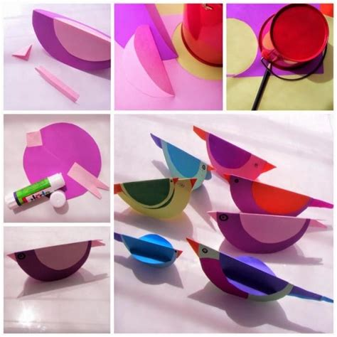 simple craft work with paper simple and eazy paper bird crafts for crafts for