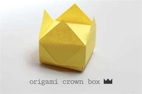 crown origami easy origami crown box
