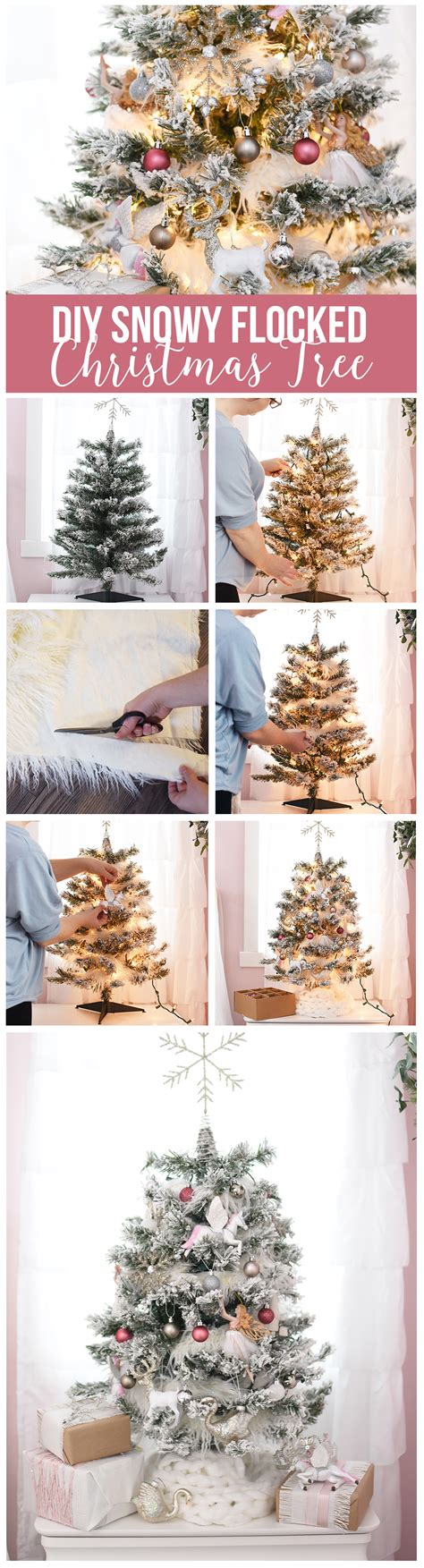 decorating a white flocked tree how to decorate a white flocked tree the diy