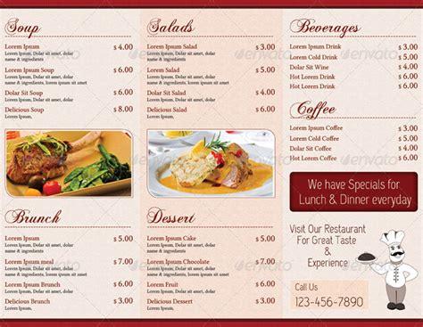 how to make menu card for restaurant 15 premium tri fold menu card templates