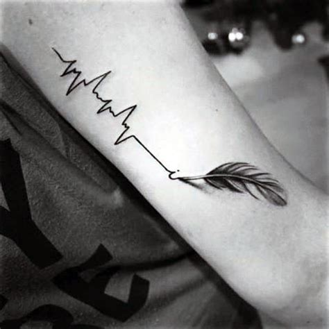 50 heartbeat tattoo designs for men electronic pulse ink