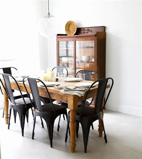 metal dining room table and chairs 25 best ideas about black chairs on black