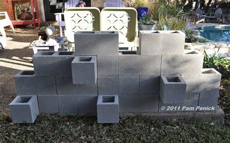 cinder block garden wall make a cinderblock wall planter diggingdigging