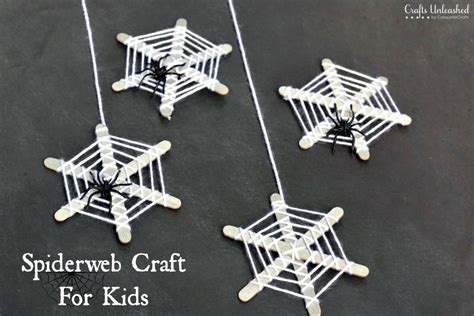 how to make a spider web craft for crafts for craft stick spiderwebs