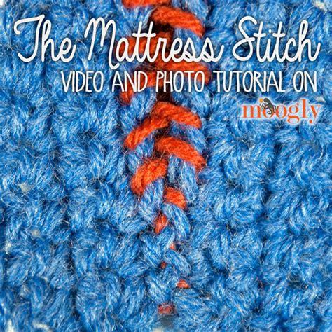 mattress stitch knitting tutorial mattress stitch seaming moogly