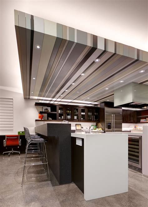 Lowered Ceiling by Another Angle Of The Kitchen Remodel Emphasizing Our Led