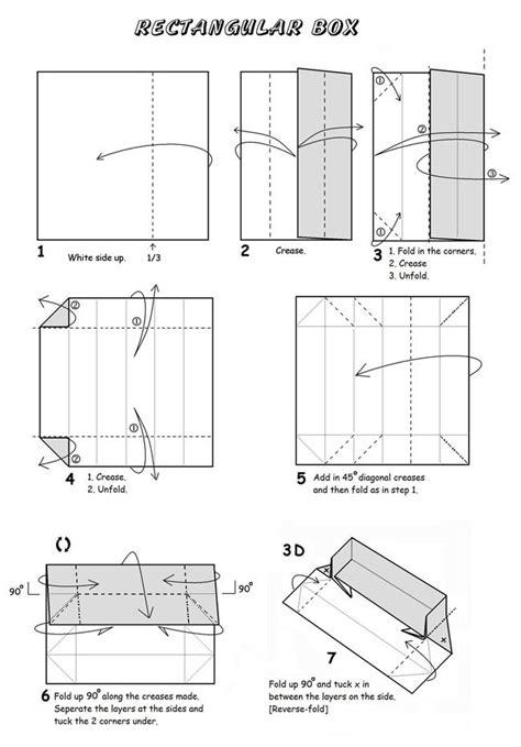 origami box rectangle rectangular box origami et papier