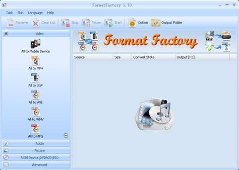 format factory formatfactory file extensions