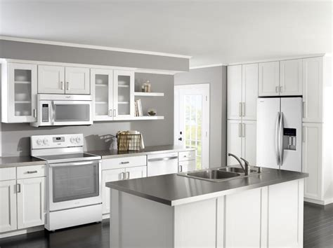 Kitchen Ideas With White Appliances by Homeofficedecoration Kitchen Cabinet Ideas With White