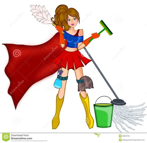 How To Read Floor Plans cleaning super woman stock illustration image 55622764