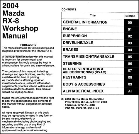 car repair manuals online pdf 2009 mazda rx 8 engine control service manual free download 2004 mazda rx 8 repair manual service manual pdf 2008 mazda rx