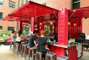Boston Bar Stools by Repurposed Shipping Containers Spread Across Boston The