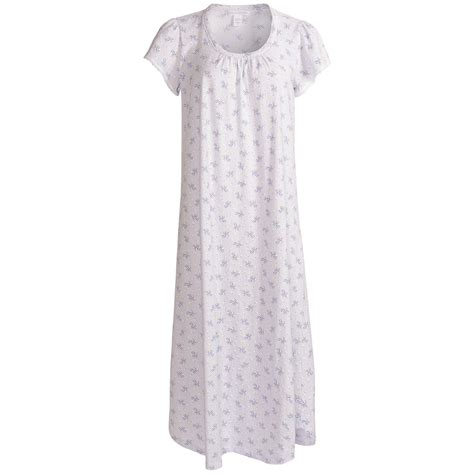 cotton knit nightgowns nwt 55 carole hochman nightgown cotton knit purple print