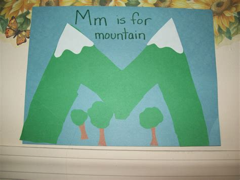 mountain crafts for sunflowers at school letter m preschool unit